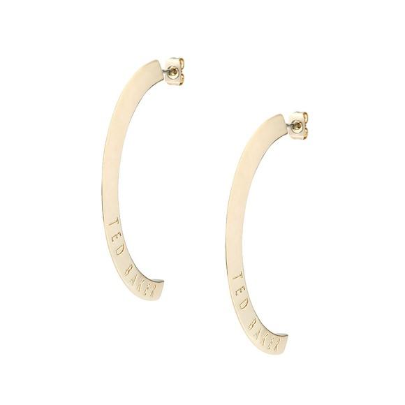 Ted Baker Womens Gold Iclipsa Logo Half Hoop Earring main image