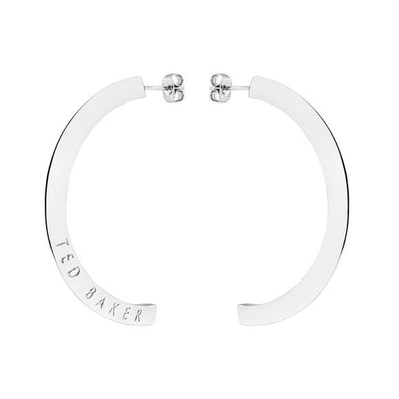 Ted Baker Womens Silver Iclipsa Logo Half Hoop Earring main image