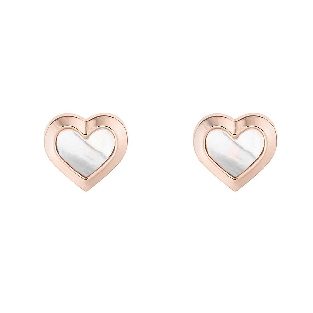 Heila Mother of Pearl Heart Stud Earring main image