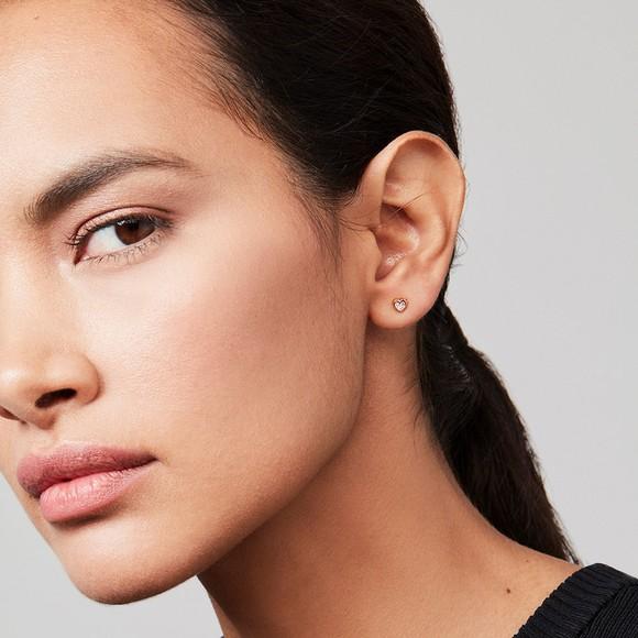 Ted Baker Womens Pink Neena Nano Heart Stud Earring