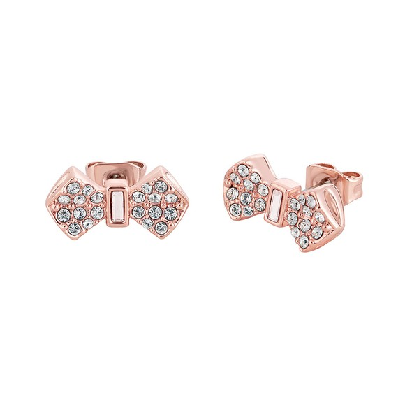 Ted Baker Womens Pink Sersi Solitaire Bow Stud Earring main image