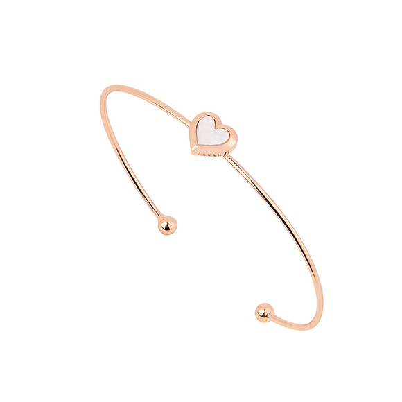 Ted Baker Womens Pink Heshra Mother of Pearl Heart Cuff main image