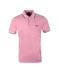BOSS Mens Pink Athleisure Paddy Polo Shirt