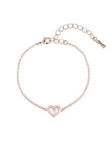 Ted Baker Womens Pink Heleem Mother of Pearl Heart Bracelet