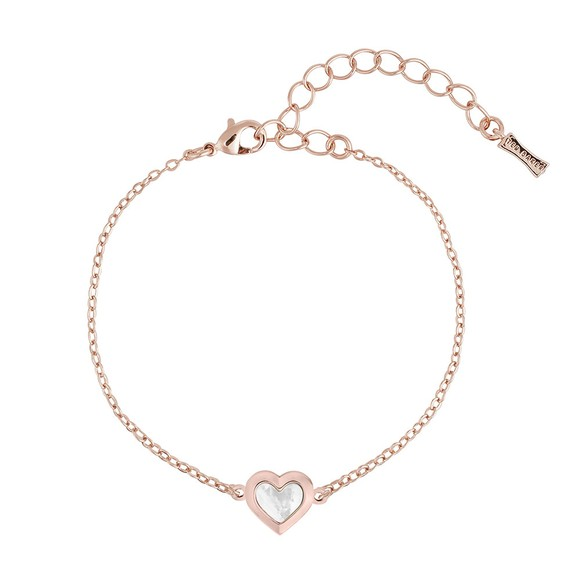 Ted Baker Womens Pink Heleem Mother of Pearl Heart Bracelet main image