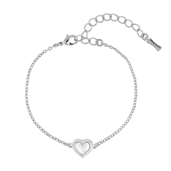 Ted Baker Womens Silver Heleem Mother of Pearl Heart Bracelet