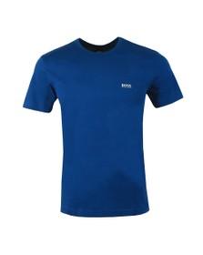 BOSS Mens Blue Athleisure Regular Fit Small Logo T-Shirt