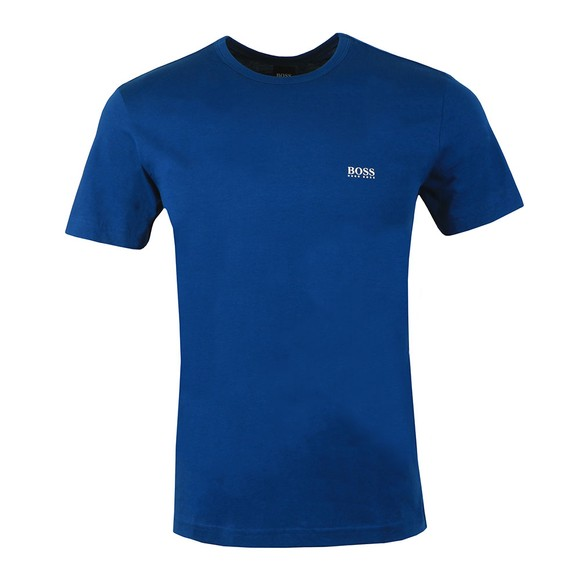 BOSS Mens Blue Athleisure Regular Fit Small Logo T-Shirt