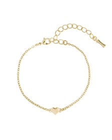Ted Baker Womens Gold Harsa Tiny Heart Bracelet