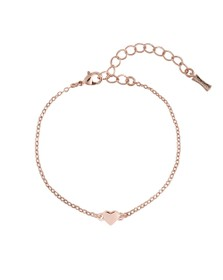 Ted Baker Womens Pink Harsa Tiny Heart Bracelet