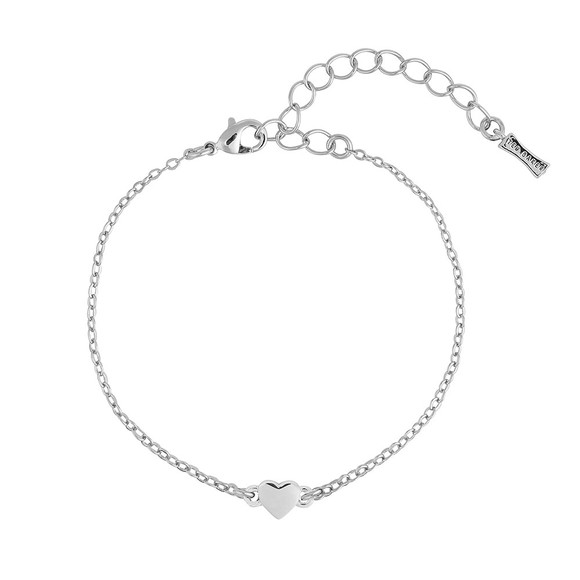 Ted Baker Womens Silver Harsa Tiny Heart Bracelet