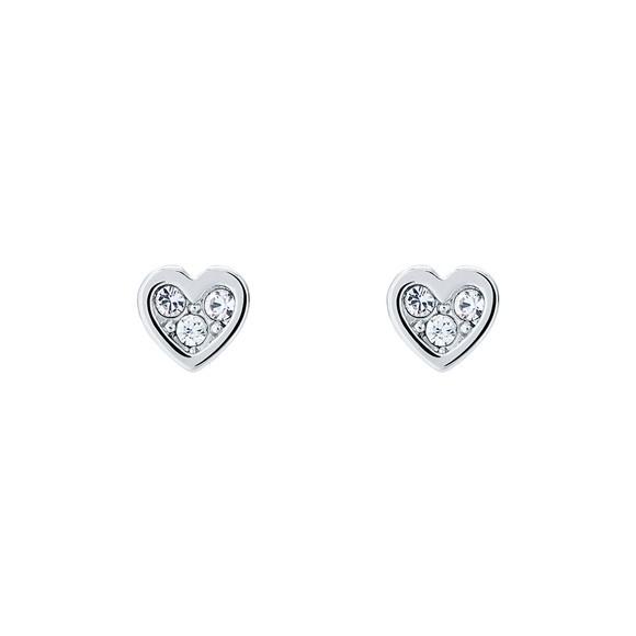 Ted Baker Womens Silver Neena Nano Heart Stud Earring
