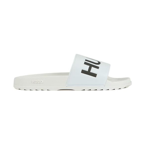 HUGO Mens White Match Slides