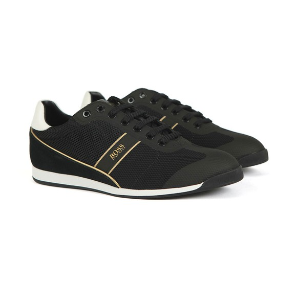 BOSS Mens Black Glaze Lowp Mewt Trainer