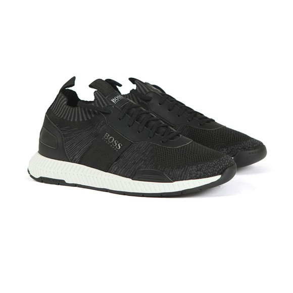 BOSS Mens Black Titanium Runner KS20 Trainer
