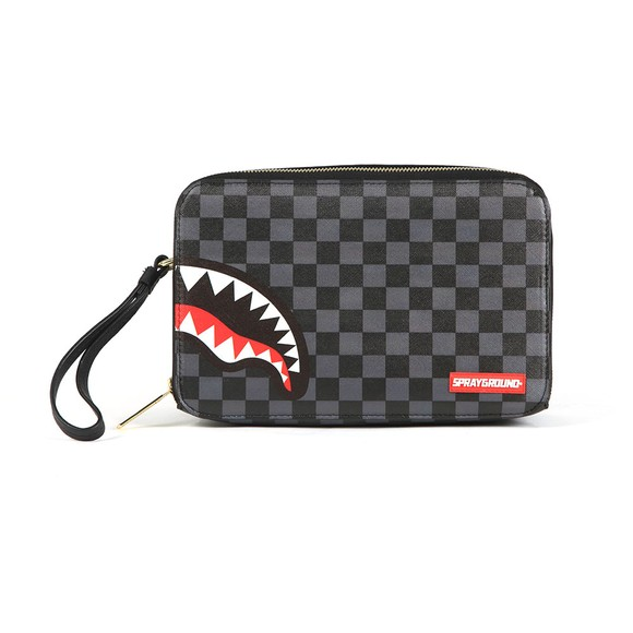 Sprayground Mens Grey Sharks In Paris Toiletry Bag