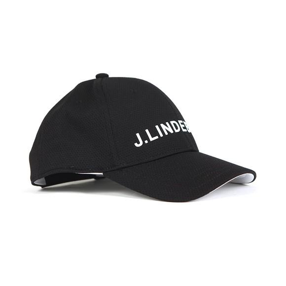 J.Lindeberg Mens Black Maiden Pro Poly Cap