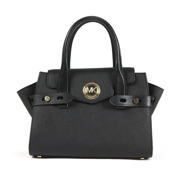 Michael Kors Womens Black Carmen Satchel