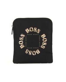 BOSS Mens Black Pixel TL_S Zip Man Bag