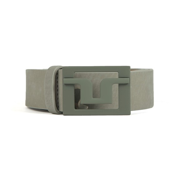 J.Lindeberg Mens Grey Slater 40 Brushed Leather Belt