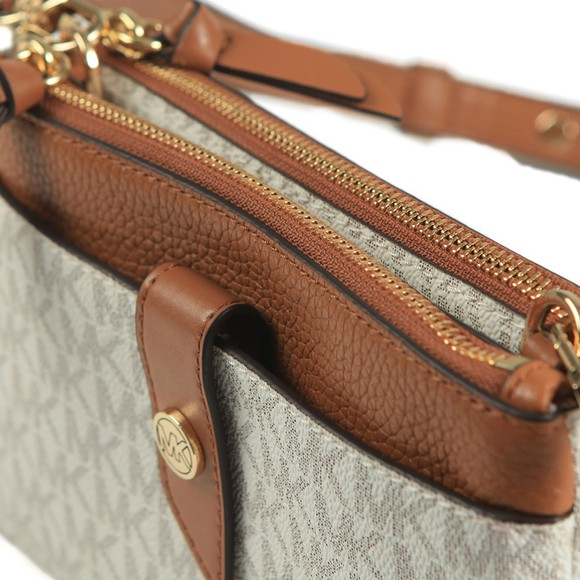 Michael Kors Womens Beige Charm Crossbody Bag main image