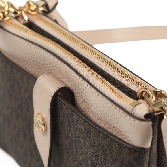 Michael Kors Womens Brown Charm Crossbody Bag main image