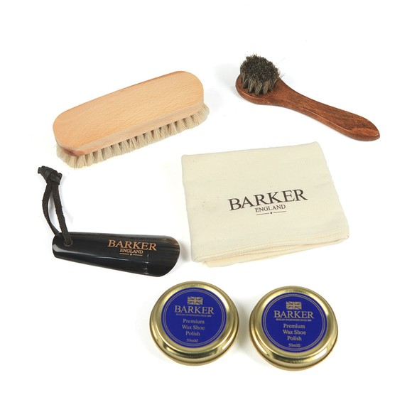 Barker Mens Brown Shoe Care Kit main image