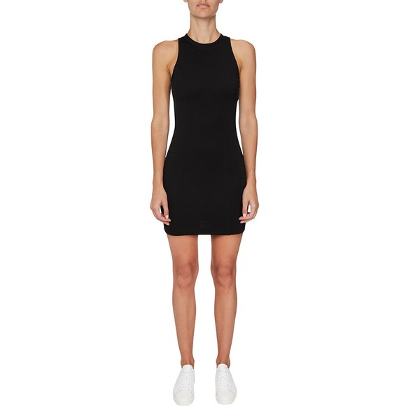 Calvin Klein Jeans Womens Black Side Taping Sleeveless Dress main image