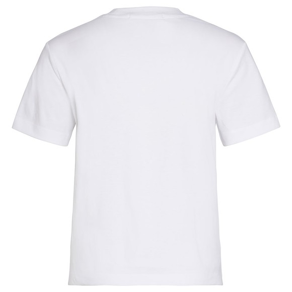 Calvin Klein Jeans Womens White Round Logo Straight T-Shirt main image