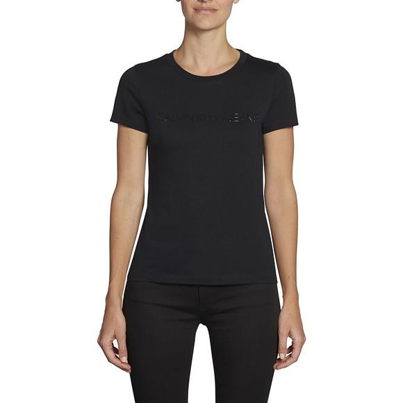 Calvin Klein Jeans Womens Black Institutional Logo T-Shirt main image