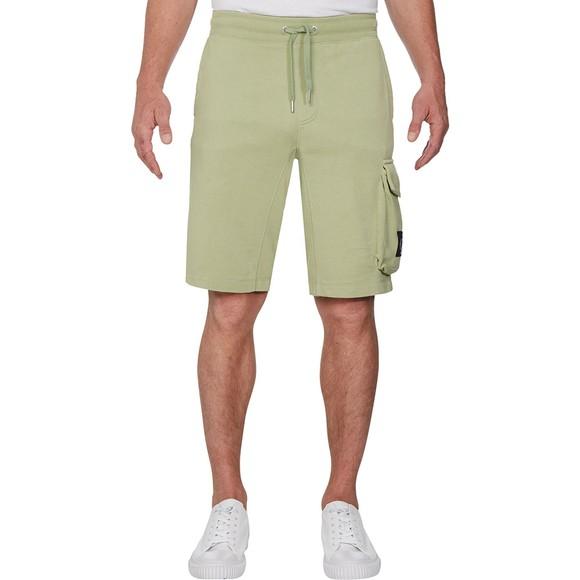 Calvin Klein Jeans Mens Green Monogram Sweat Short main image