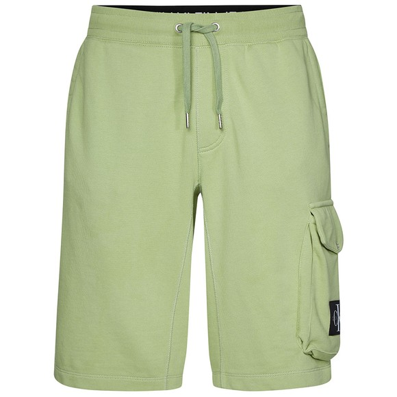 Calvin Klein Jeans Mens Green Monogram Sweat Short