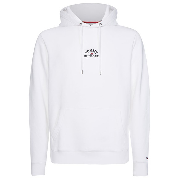 Tommy Hilfiger Mens White Embroidered Hoodie