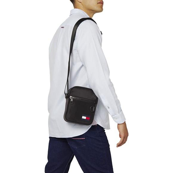 Tommy Hilfiger Mens Black Mini Reporter Bag main image