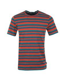 PS Paul Smith Mens Orange Stripe T-Shirt