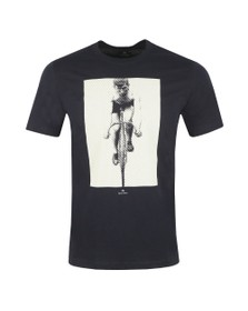 PS Paul Smith Mens Blue Cyclist T-Shirt