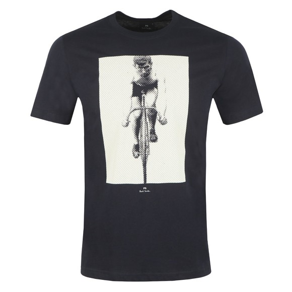 PS Paul Smith Mens Blue Cyclist T-Shirt