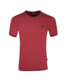 Vivienne Westwood Anglomania Mens Red New Classic Badge Logo T Shirt