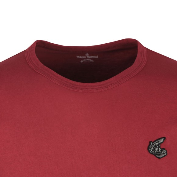Vivienne Westwood Anglomania Mens Red New Classic Badge Logo T Shirt main image