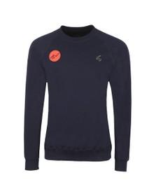 Vivienne Westwood Anglomania Mens Blue Classic Raglan Time To Act! Sweatshirt