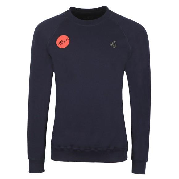 Vivienne Westwood Anglomania Mens Blue Classic Raglan Time To Act! Sweatshirt main image