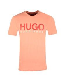 HUGO Mens Orange Dolive202 T Shirt