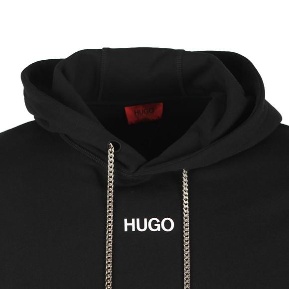 HUGO Mens Black Duture Hoody