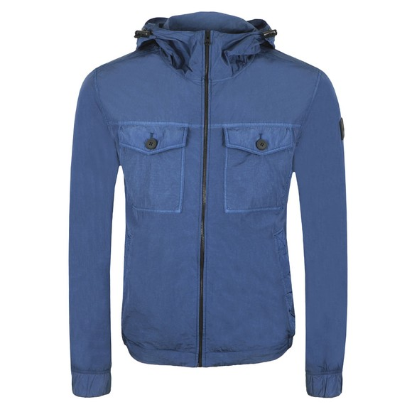 BOSS Mens Blue Casual Odear Hooded Jacket