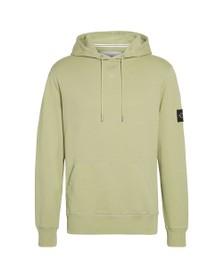 Calvin Klein Jeans Mens Green Sleeve Badge Hoodie
