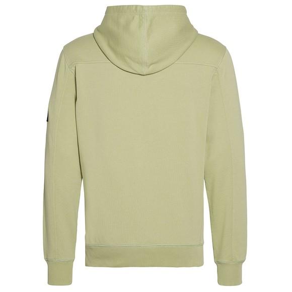 Calvin Klein Jeans Mens Green Sleeve Badge Hoodie main image