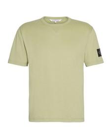 Calvin Klein Jeans Mens Green Sleeve Badge T-Shirt