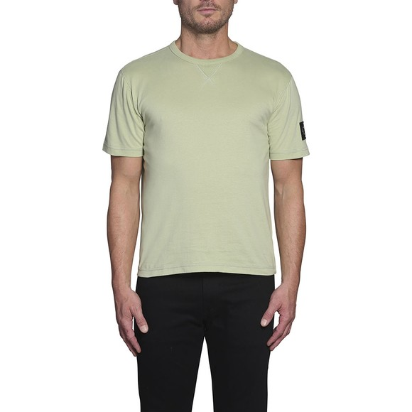Calvin Klein Jeans Mens Green Sleeve Badge T-Shirt main image