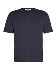 Calvin Klein Jeans Mens Blue Sleeve Badge T-Shirt