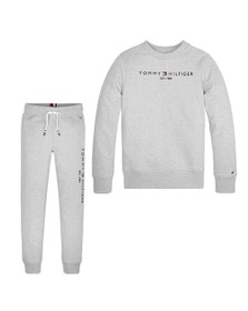Tommy Hilfiger Kids Boys Grey Essential Crew Tracksuit